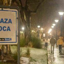 En la ciudad de General Roca, en el norte rionegrino, cayó agua nieve.