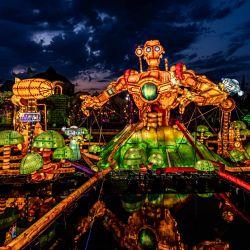 Instalaciones iluminadas en el quinto Festival de Linternas de Verano de Changying.   Foto:Chi Xiaowei / SIPA Asia vía ZUMA Wire / DPA