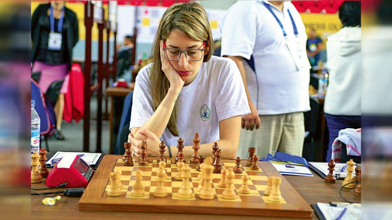 Carolina Luján, ajedrecista.  | Foto:CEDOC
