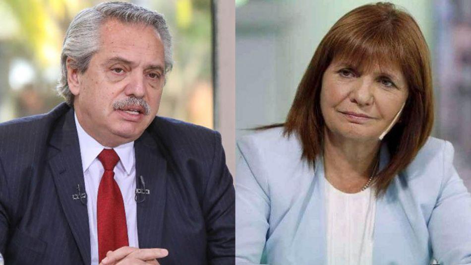 Alberto Fernández  y Patricia Bullrich 20210618