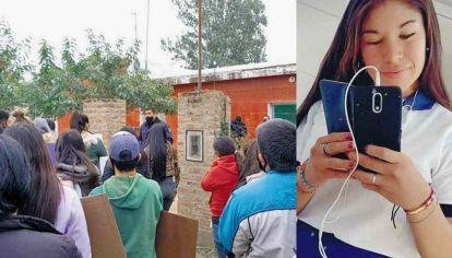 Pedido de justicia. Vecinos y familiares reclamaron por el esclarecimiento del femicidio de Luciana.