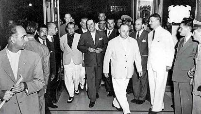 Perón y Apold. El presidente y el hombre que le construyó una red de espías, en una edición del Festival de Mar del Plata.
