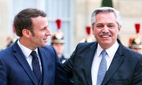 Alberto Fernandez Emmanuel Macron