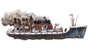 Los barcos de Alberto Fernández