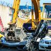 Destrucción de autos de lujo