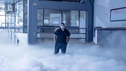 Escape de oxígeno de una clínica privada en Tucuman.
