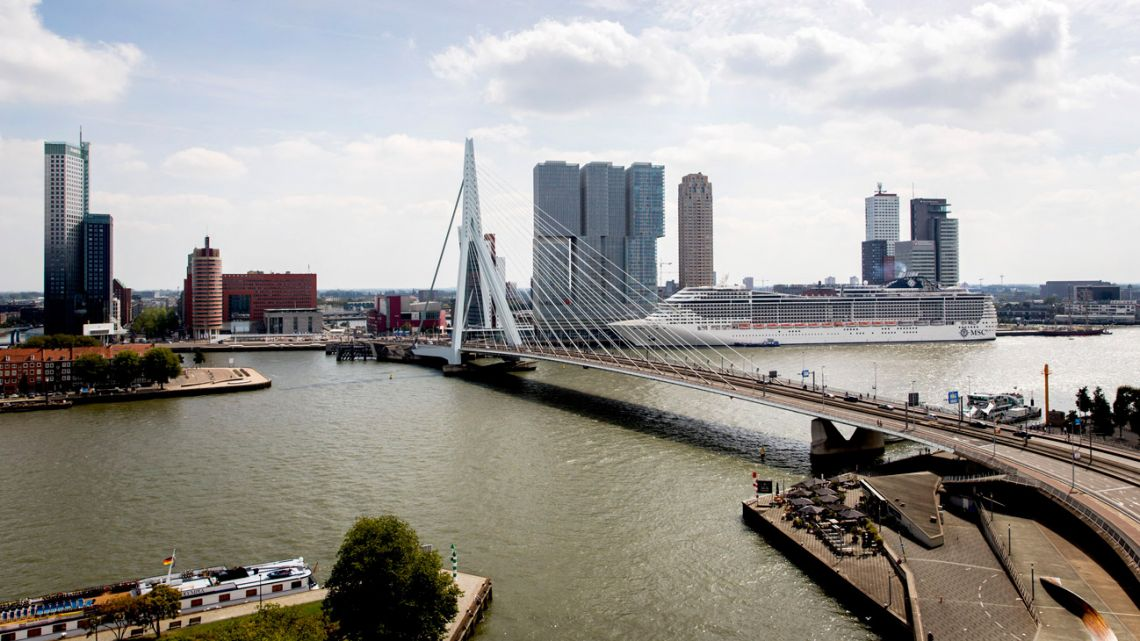 In this file photo taken on August 30, 2019, shows the cityscape of Rotterdam. Severe climate impacts will unavoidably ravage nature and humankind by mid-century or sooner, according to the draft of a landmark report from the UN's climate science advisory body obtained by AFP.