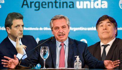 Sergio Massa - Alberto Fernández - Carlos Zaninni