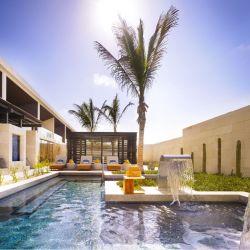 Pileta de hidroterapia Esencia Wellness del Nobu Hotel Los Cabos.