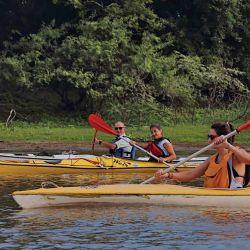 En kayak o canoa se maximiza la posibilidad de adentrarse en el Jaaukanigás, por su escaso calado.