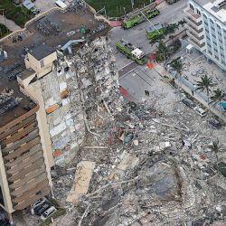 Derrumbe en Miami   Foto:CEDOC