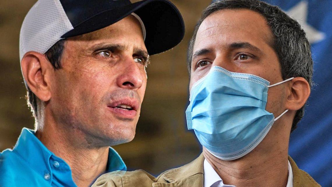 Henrique Capriles and Juan Guaidó