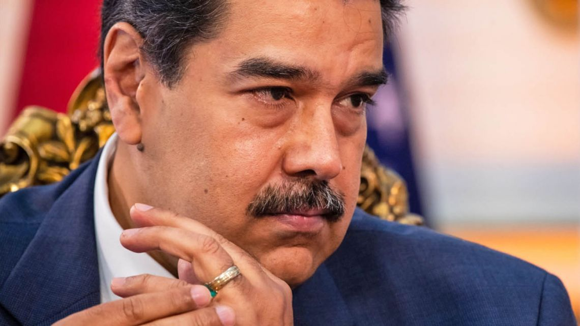Venezuelan President Nicolás Maduro, pictured during his June 2021 interview with Bloomberg Television