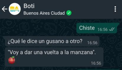 Boti, el chatbot de WhatsApp de la Ciudad