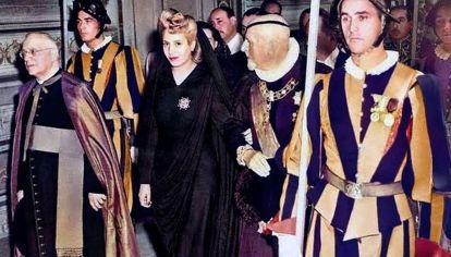 Eva Perón en el vaticano