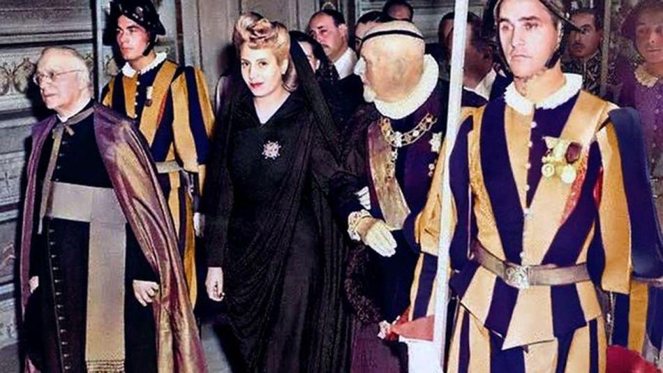 Eva Perón en el vaticano 20210625