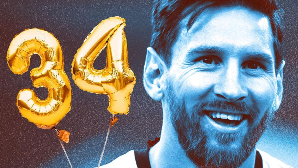 Lionel Messi turns 34