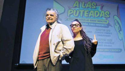 Juntos. En agosto de 2017, Horacio González y Paz Ferreyra (Miss Bolivia) debatieron sobre el uso catártico de los insultos. Un duelo de mentes brillantes.