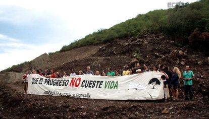 RESISTENCIA. Organizaciones sociales y ambientalistas y vecinos de la zona buscan que se frene el financiamiento de la autovía.