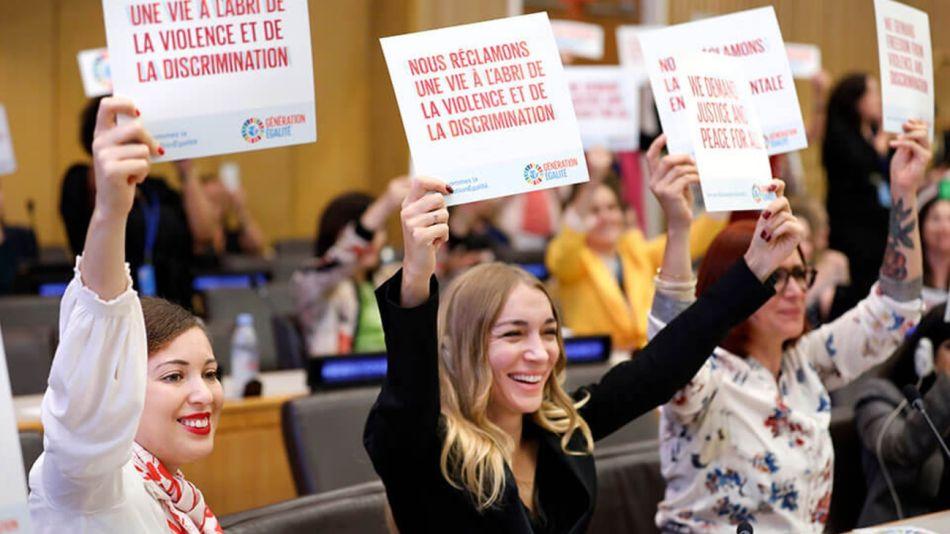 """Foto del evento """"Igualdad de género: de la Asociación de Biarritz al Foro Generación Igualdad"""", en la 74a. sesión de la ONU."""