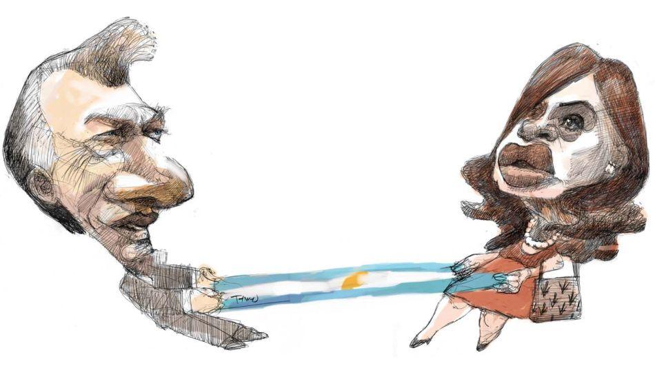 Tironeos: Mauricio Macri y Cristina Kirchner.