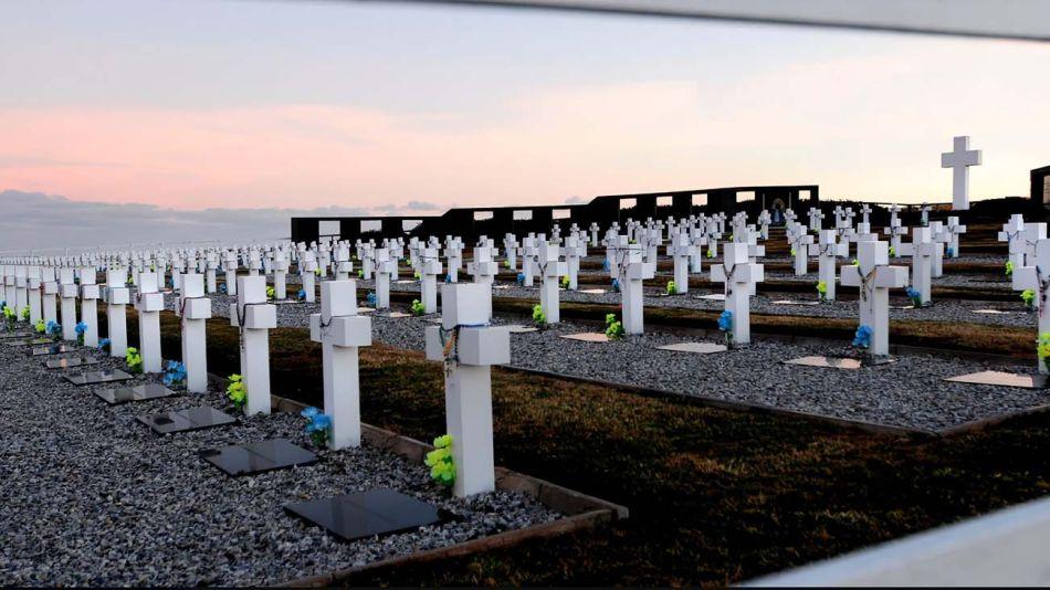 El cementerio de soldados argentinos en Malvinas.