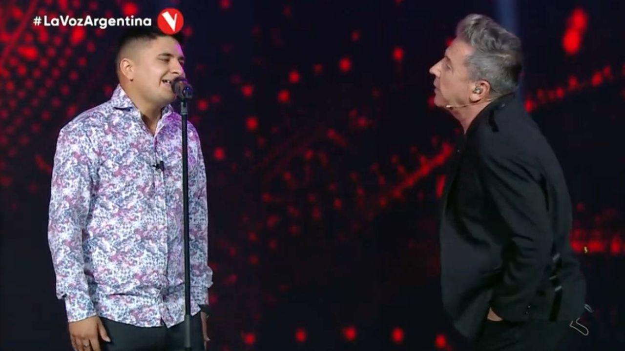 Francisco Benítez con Montaner en La Voz.  | Foto:Telefe