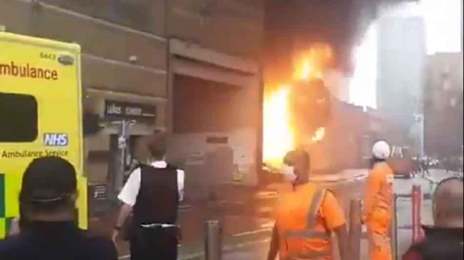 Explosión en una estación de subte en Londres