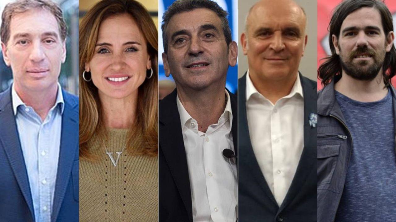 Santilli, Tolosa Paz, Randazzo, Espert y Del Caño.  | Foto:CEDOC