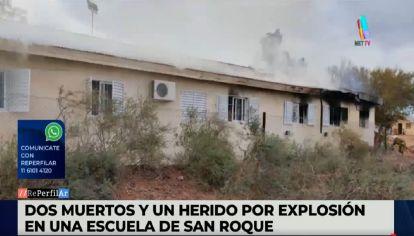 Explosión en una escuela en Neuquén