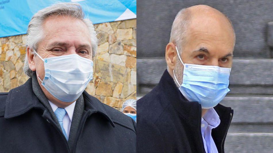 Alberto Fernández y Horacio Rodríguez Larreta 20210630