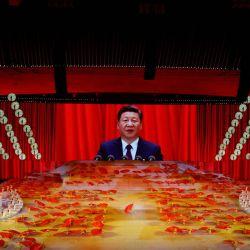 Fiesta de conmemoración de los 100 años del PCCh. | Foto:Reuters