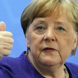 Angela Merkel y su apoyo al cruce vacunal.   Foto:DPA