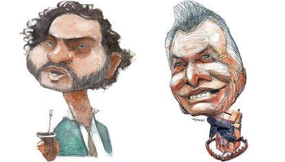 Santiago Cafiero y Mauricio Macri, por Pablo Temes.