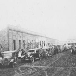 Vista de las calles de Pehuajó, allá por el año 1890.