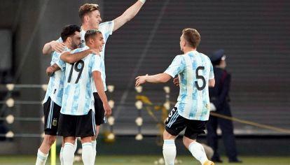 La Selección Argentina Sub-23 buscará una medalla en los Juegos Olímpicos de Tokio. // NA