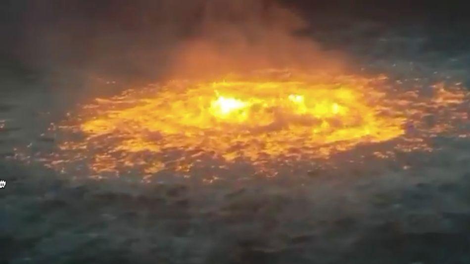Fuego en el Golfo de México.