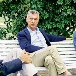 Patricia Bullrich, Mauricio Macri y Horacio Rodríguez Larreta.   Foto:cedoc