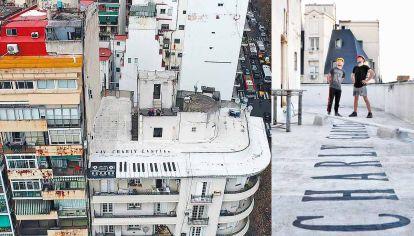 En altura. Durante los meses de aislamiento, Marcelo Ferrán encontraba refugio en la terraza de su edificio. Allí subió con su idea.