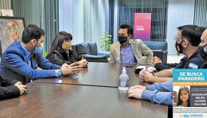 Encuentro. Susana Trimarco, activista en la lucha contra la trata de personas, se reunió con el ministrio de Seguridad Luciano Anastasi.