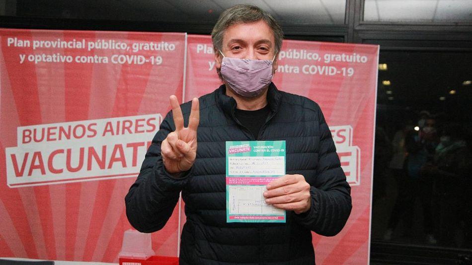 Máximo Kirchner vacunado contra el Covid-19