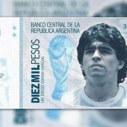 La idea de lanzar un billete conmemorativo con la figura de Diego Armando Maradona. | Foto:cedoc