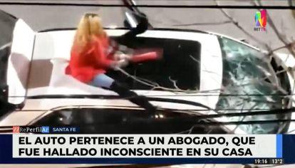 Video: mujer rompe el auto de su amante que no le respondía el timbre por sufrir un ACV