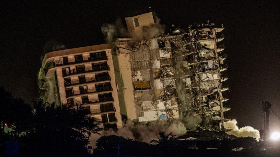 Derrumbe Miami