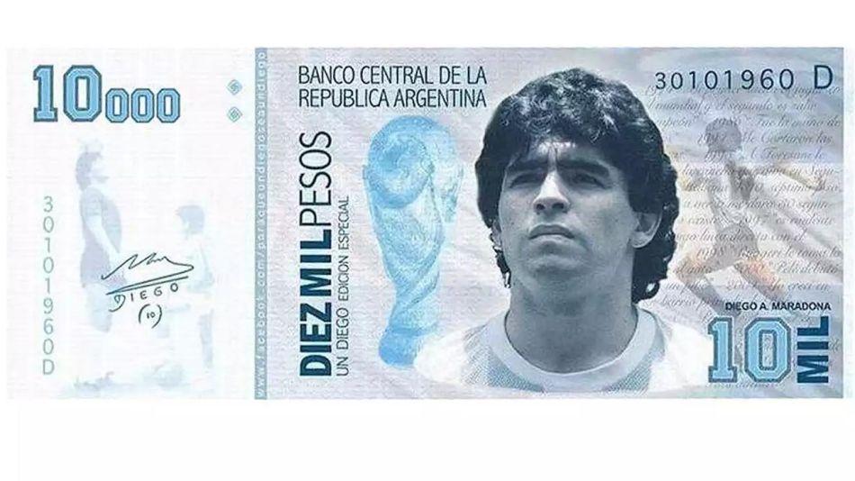 Senado. Proponen que Diego Maradona aparezca en billetes y sellos postales 20210705