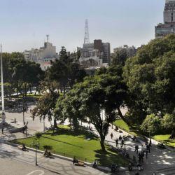 Vista de la céntrica Plaza San Martín.