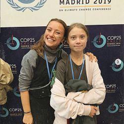 Nicki con Greta, en la última Conferencia de Naciones Unidas contra el Cambio Climático.