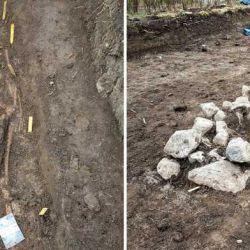 La mayoría de las personas habían sido enterradas boca arriba en una posición este-oeste