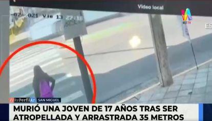 Accidente en San Miguel - Murió una joven de 17 años