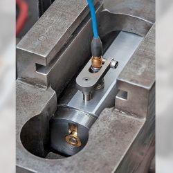 El cañón de pruebas listo para realizar la medición en PSI mediante un sensor piezoeléctrico que transmite la corriente eléctrica generada a un medidor que marca su intensidad.